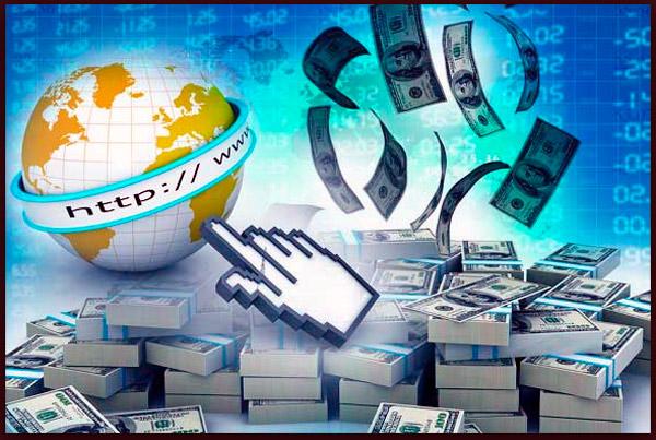 dinero con una pagina web